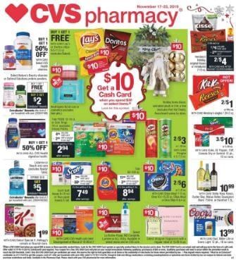 CVS Holiday Gifts and Cash Card Deal Nov 17 23 2019