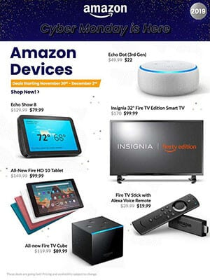 Cyber Monday Ads Dec 2 2019 amazon