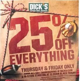 Dick's Sporting Goods Black Friday Sale 2019