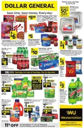 Dollar General Ad Nov 13 19 2019