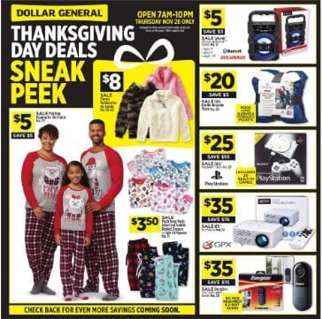 Dollar General Black Friday Ad 2019