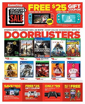 Gamestop Black Friday Ad 2019