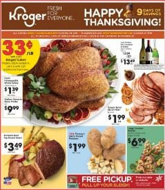 Kroger Party Trays Thanksgiving Food 2019