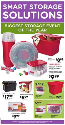 Kroger Storage Products and 4-Day Sale