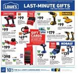 Lowe's Ad Last-Minute Gifts Dec 19 - 24, 2019