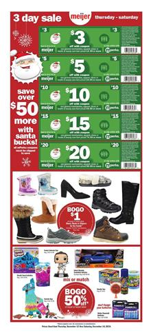 Meijer 3 Day Sale Christmas Clothing Dec 2019