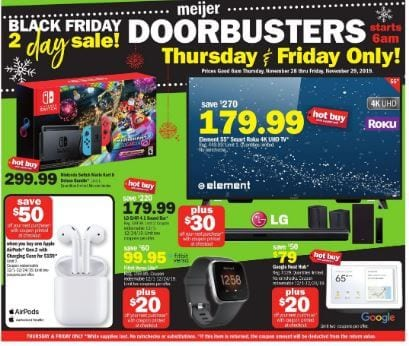 Meijer Black Friday Ad 2019