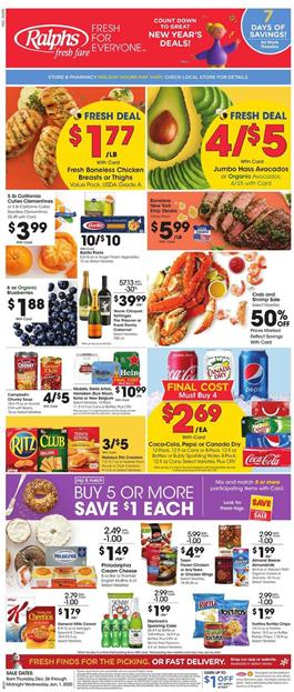 Ralphs Weekly Ad Deals Dec 26 2019 Jan 1 2020
