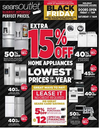Sears Outlet Black Friday Ad 2019