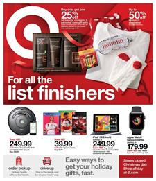 Target Ad Last-Minute Gifts Dec 22 - 28, 2019