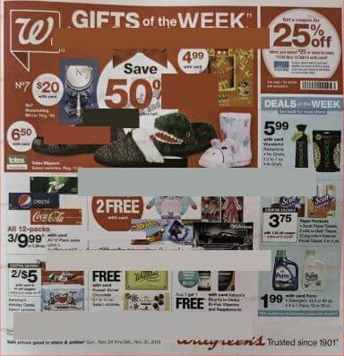 Walgreens Weekly Ad Preview Nov 24 - 30, 2019