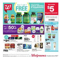 Walgreens Weekly Ad Vitamin Deals Dec 29 - Jan 4