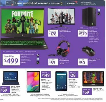Walmart Black Friday Sale 2019 Gaming Laptops Office Electronics And Cameras