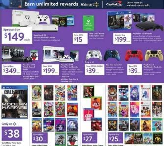 Walmart Black Friday Console Bundles, PS4, Xbox, Nintendo
