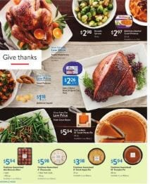 Walmart Thanksgiving Food Nov 1 - 16