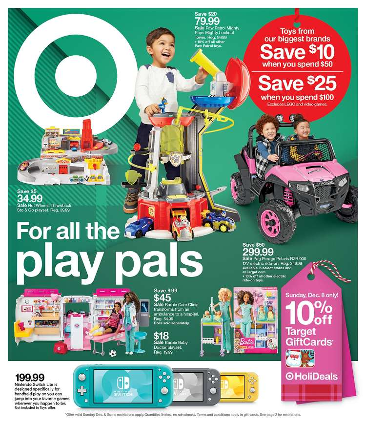 Target Christmas Toys Dec 8 - 14, 2019 | Cyber Week and Weekly Ad