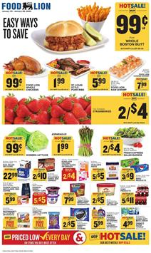 Food Lion Ad Whole Chickens $.99