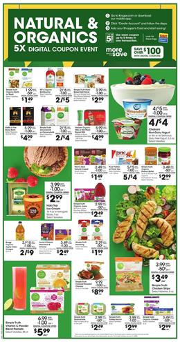 Kroger Organic Foods 5x Digital Coupons Jan 15 - 21, 2020