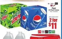 Marcs Ad Pepsi 24-Pack Cubes 2 for $11