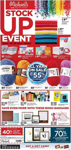 Michaels Stock Up Event Jan 2020