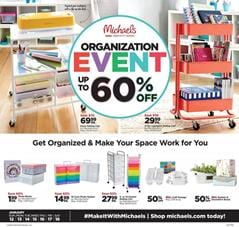 Michaels Weekly Ad Organization Event 60% off discount