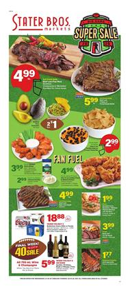 Stater Bros Ad Beef Lion Flap Meat $4.99 lb.