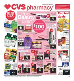 CVS Epic Beauty Event Feb 16 - 22, 2020