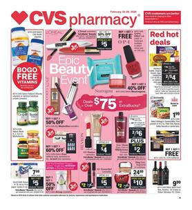 CVS Pharmacy Beauty Sale Feb 23 - 29, 2020