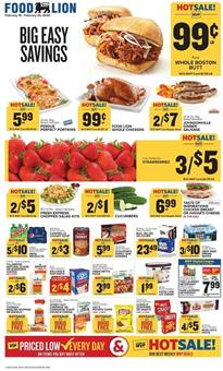 Food Lion Weekly Ad Strawberries 3 for $5