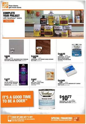 Home Depot Ad Wood Products Feb 20 - 27, 2020