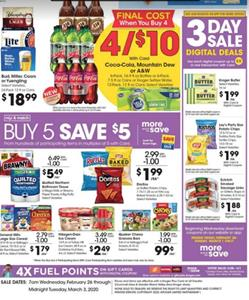 Kroger Buy 5 Save 5 Sale Feb 26 - Mar 3, 2020
