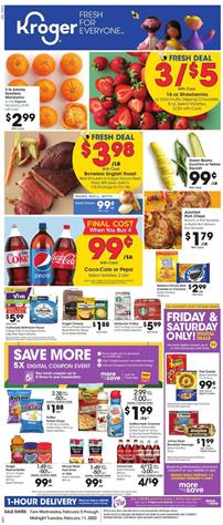 Kroger Weekly Ad Valentine's Day Feb 5 - 11, 2020
