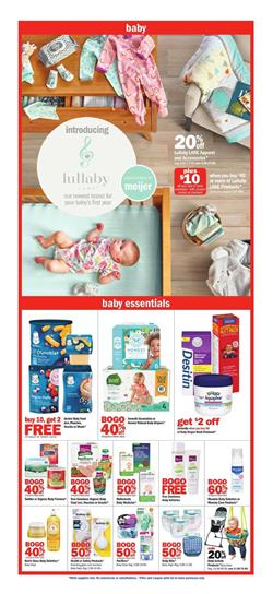 Meijer Baby Products BOGO Free Feb 23 - 29, 2020
