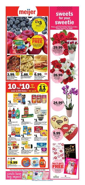 Meijer Weekly Ad Valentine's Day Feb 9 - 15, 2020