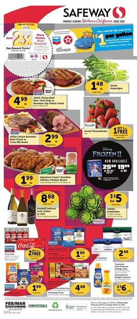 Safeway Weekly Ad Sale Feb 26 - Mar 3, 2020