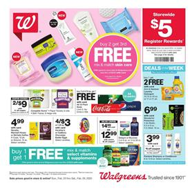 Walgreens Skin Care BOGO Sale Feb 23 - 29, 2020