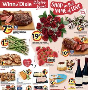 Winn Dixie Valentine's Day Feb 12 - 18, 2020
