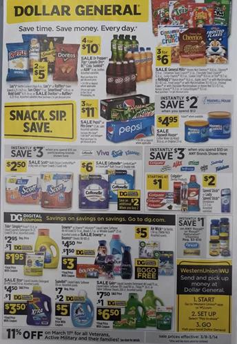 Dollar General Weekly Ad Preview Mar 11 17 2020