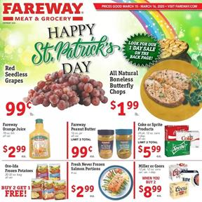 Fareway Ad St. Patricks Day Sale Mar 10 16 2020