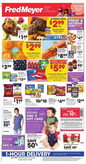 Fred Meyer Ad Digital Coupons Mar 4 10 2020