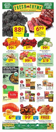 Fresh Thyme Ad Sale Mar 19 - 25, 2020