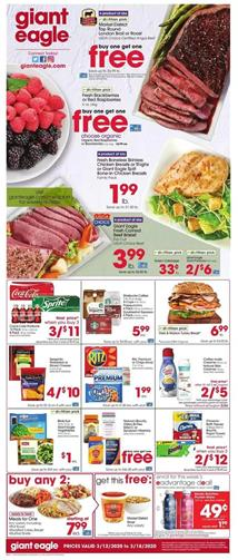 Giant Eagle Weekly Ad Sale Mar 12 - 18, 2020