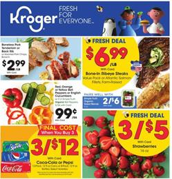 Kroger Weekly Ad 5x Event Mar 11 - 17, 2020