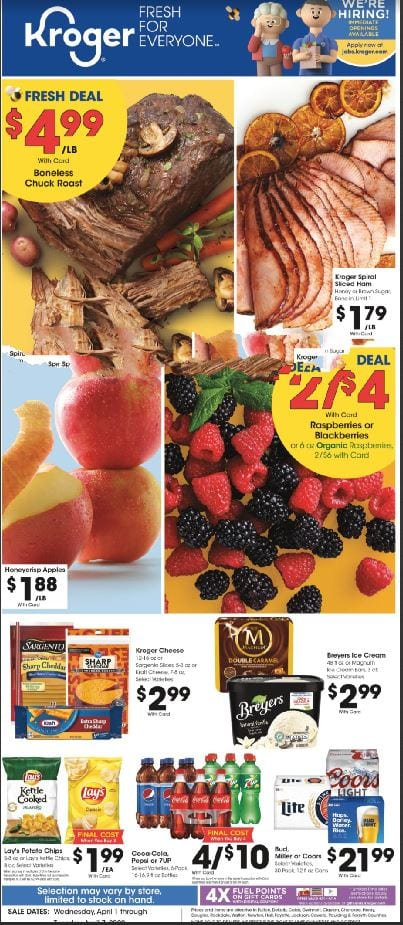 Kroger Weekly Ad Preview Apr 1 7 2020