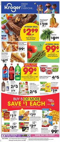 Kroger Weekly Ad Sale Mar 18 - 24, 2020