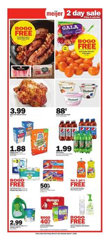 Meijer Ad 2-Day Sale Items Mar 6 - 7, 2020