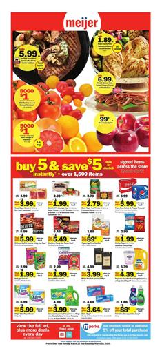 Meijer Weekly Ad Sale Mar 22 - 28, 2020