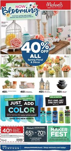 Michaels Weekly Ad Sale Mar 8 - 14, 2020