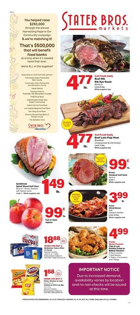 Stater Bros Ad Sale Apr 1 - 7, 2020