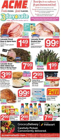 Acme Weekly Ad Easter Sale Apr 10 - 16, 2020